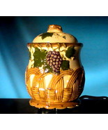 Ceramic Electric Potpourri Pot Grapes and Baske... - $16.99
