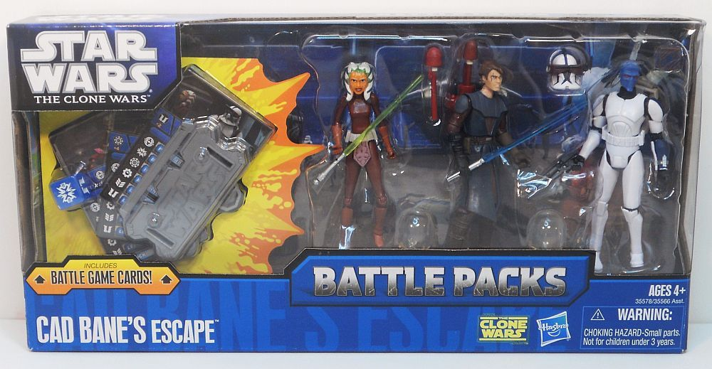 Star Wars Clone Wars Cad Bane's Escape Battle Pack Ahsoka, Anakin