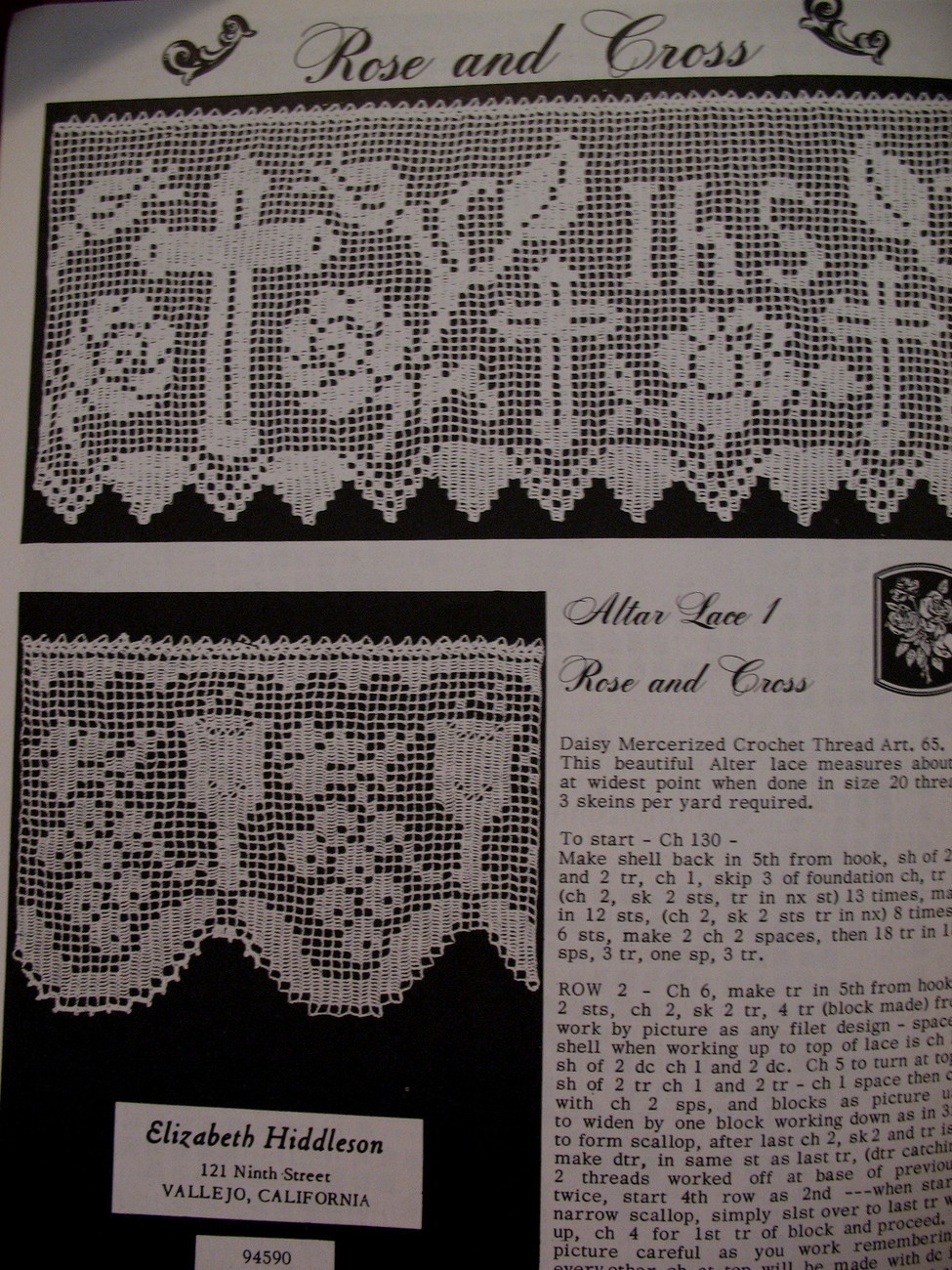 Vintage Antique IRISH CROCHET Flowers Motifs Patterns