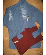 LOT of 2 Men HAGGAR Long Sleeve EZ'S Polo Shirt... - $19.99
