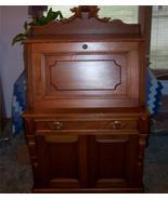 Walnut Carved Drop Front Desk w/ Birdseye Maple... - $1,399.00