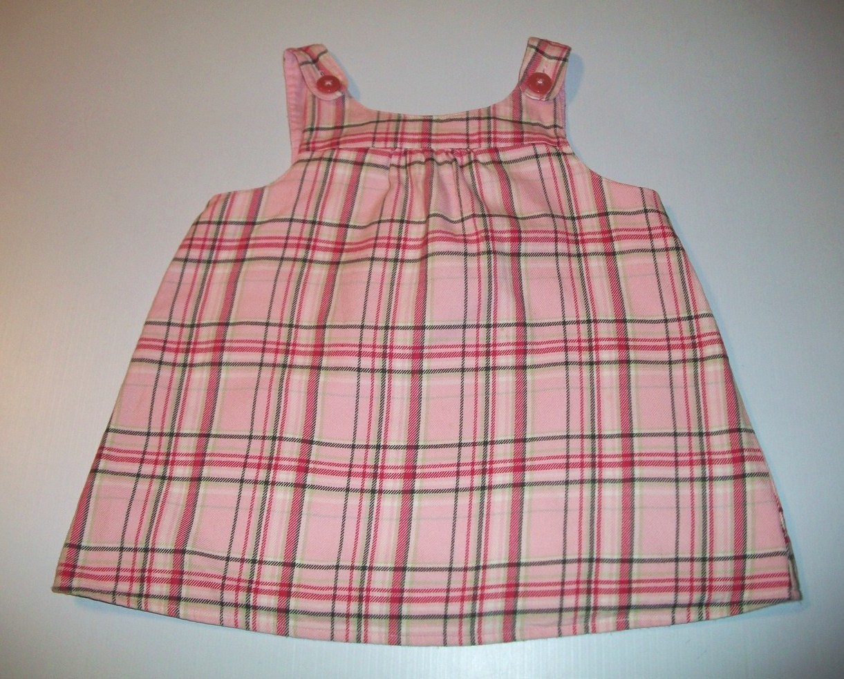 Gymboree Classroom Kitty Girls Pink Plaid Top 5