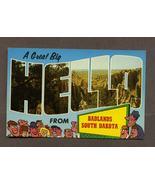 Vintage Postcard A Big Hello from Badlands Sout... - $2.99