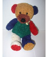 Goffa Teddy Bear Multicolor Curly Fur Plush Stu... - $24.88