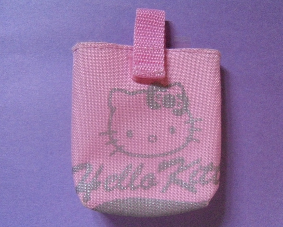 Sanrio Hello Kitty Pink and Grey Carrying Case Velcro Strap NEW