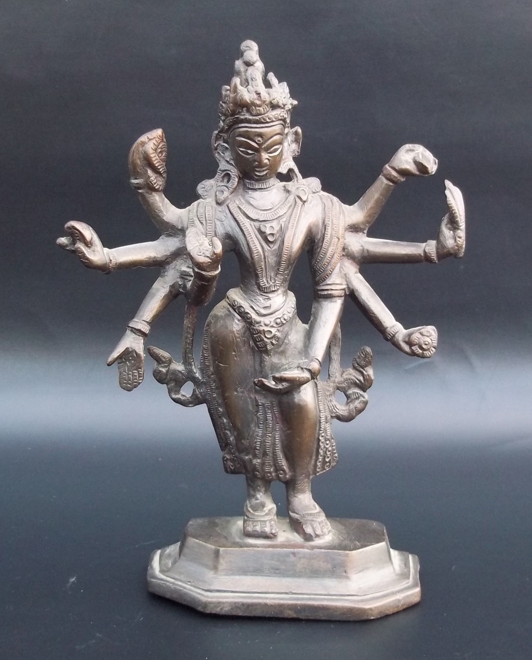 Vintage India Brass Hindu Lord Shiva Statue  Purchased In India 1960