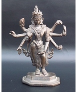 Vintage India Brass Hindu Lord Shiva Statue. Purchased In India 1960. - $173.00