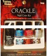 FANTASY MAKERS Crackle Nail Polish Set/Lot~RED+... - $5.00