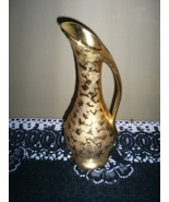 Ceramic Vase in Gold Spatter Finish (Vintage) - $5.00