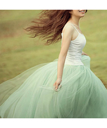 Modern Romantic Princess. Mint Green Mesh Tulle Full Skirt. Color Choice