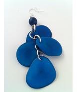 BRAND NEW Hand Made Blue Tagua Earrings SALE! - $15.00
