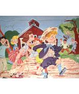 50s Child's Tray Puzzle Schoolyard Kiss w/Bulli... - $18.00