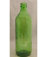 1969 Vintage 7 Up Embossed Green Bottle You Like It It Likes You Armstrong Co.  - $8.99