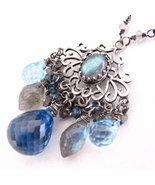 Around Midnight Necklace - London blue topaz, L... - $187.00