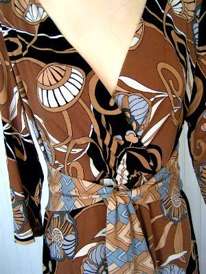 Day dress size 10 op art print career office comfy mod boho dress Scarlett NWT