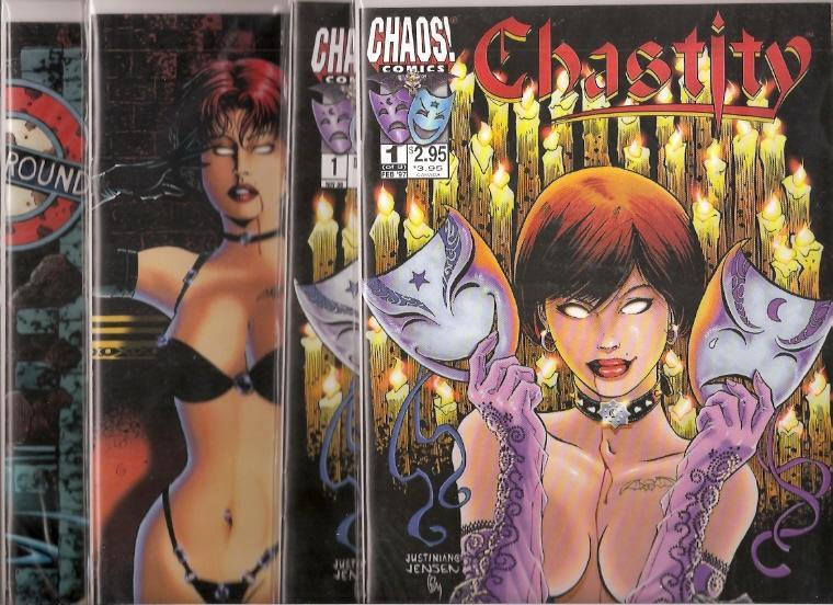 4 Comics Set Chastity Theatre of Pain 1 2 3 and German NM