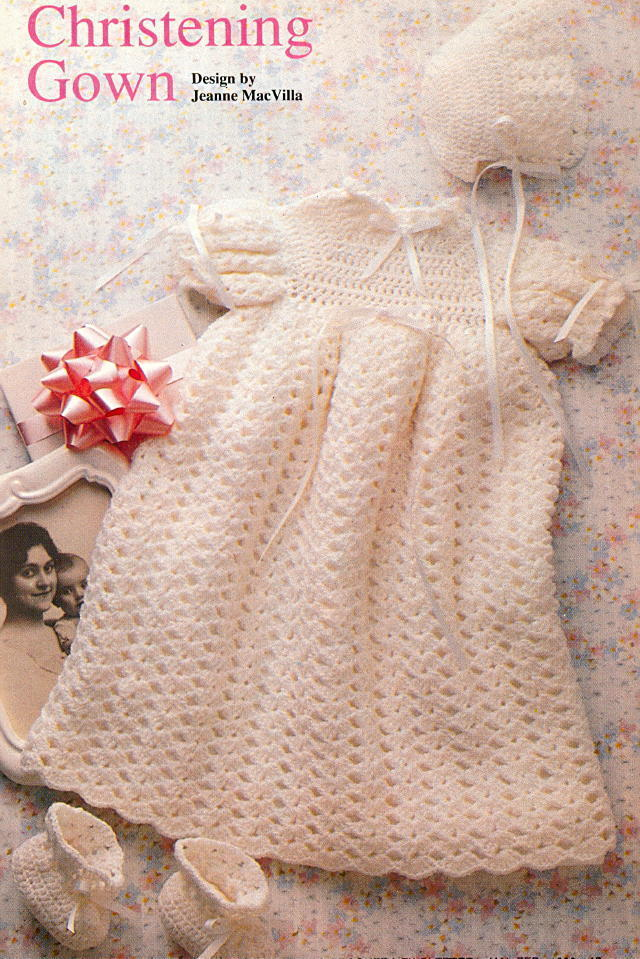 Needle Arts: Christening Gown Crochet Pattern
