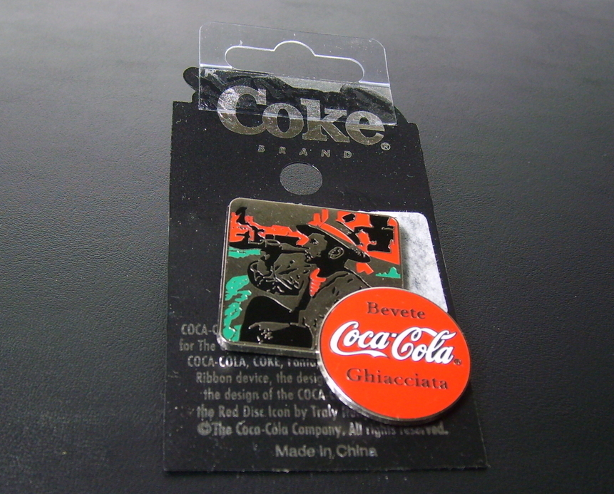 German - Coca Cola - Coke Brand Hat Tac Pin
