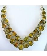 Geometric Lemon Topaz Kaleidoscope faceted Ster... - $323.52
