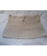 Beach Pool Swimsuit Cover up Crochet Light Beige Skirt Girls Handmade Peru NEW - $8.00