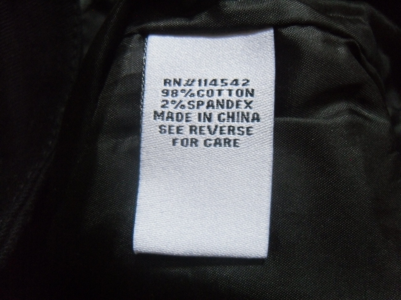 Black_zipper_skirt_care_label