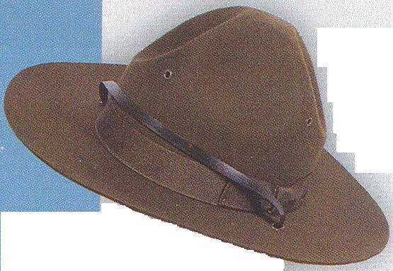MOUNTIE TROOPER 4 DENT SMOKEY DRILL INSTR HAT LG
