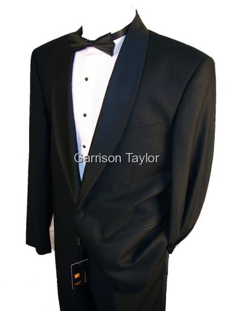 SHAWL COLLAR ONE BUTTON BLACK TUXEDO 42R