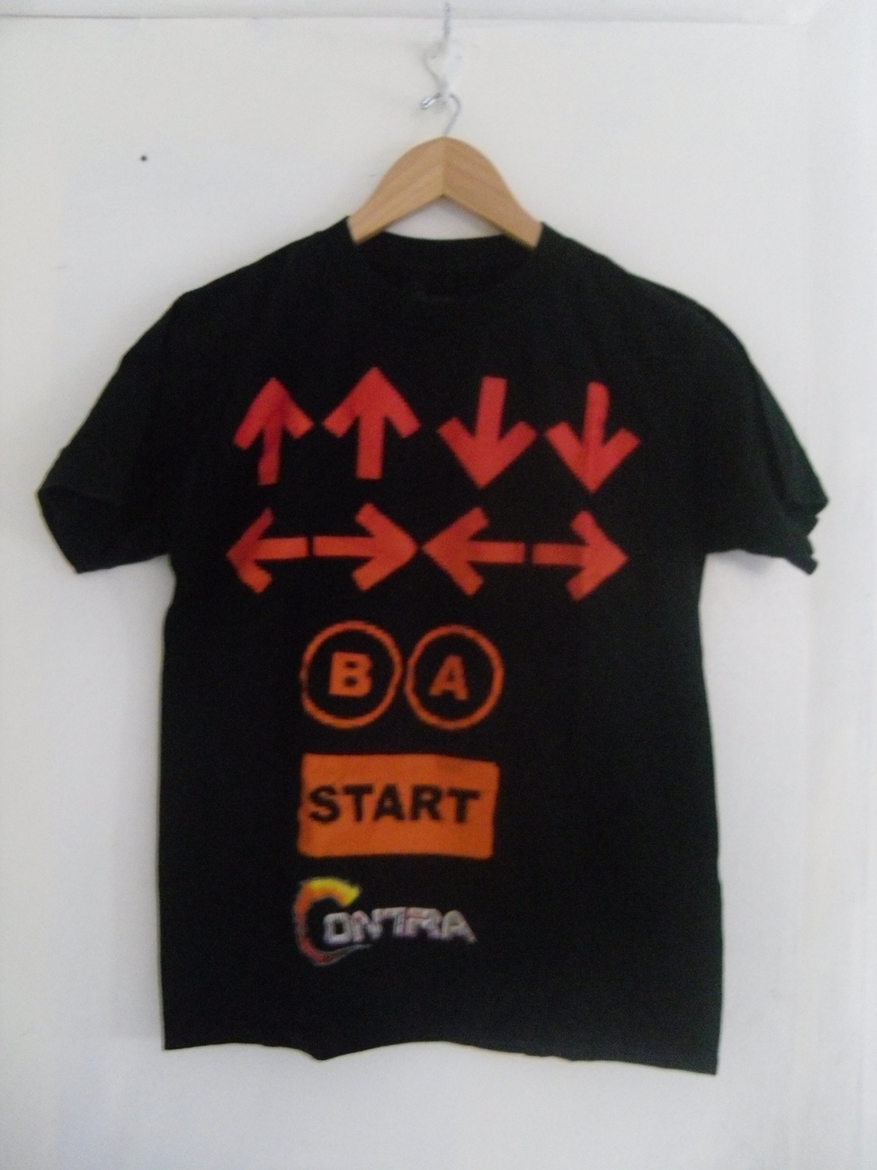 Contra Code Konami Code Video Game Black T Shirt Hot Topic Unisex Size XS NEW