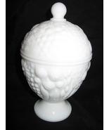 Vintage Avon Milk Glass Pedestal Candy Dish wit... - $6.99