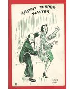 ELMER ANDERSON ABSENT MINDED COMIC 1951 POSTCARD - $6.36