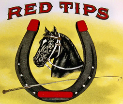 Lucky Horseshoe! Red Tips Embossed Inner Cigar ... - $2.49