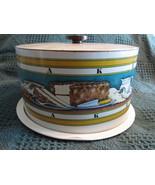 Vintage Metal Ballonoff Cake Carrier Retro 1970... - $24.54