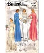 Vtg WEDDING GOWN & Bridesmaid DRESS Pattern 553... - $12.99