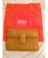 Brand new Latico leather mustard yellow clutch ... - $49.00