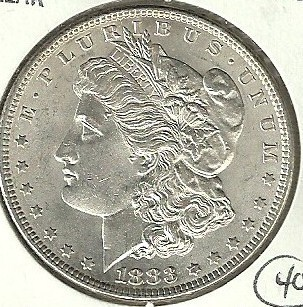1883 Philadelphia Mint Morgan Silver Dollar