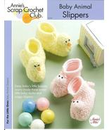 ANNIE'S BABY ANIMAL SLIPPERS~BOOTIES CROCHET PA... - £3.78 GBP