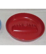 2 Vintage Melmac Melamine Ashtrays Red Round & ... - $14.00