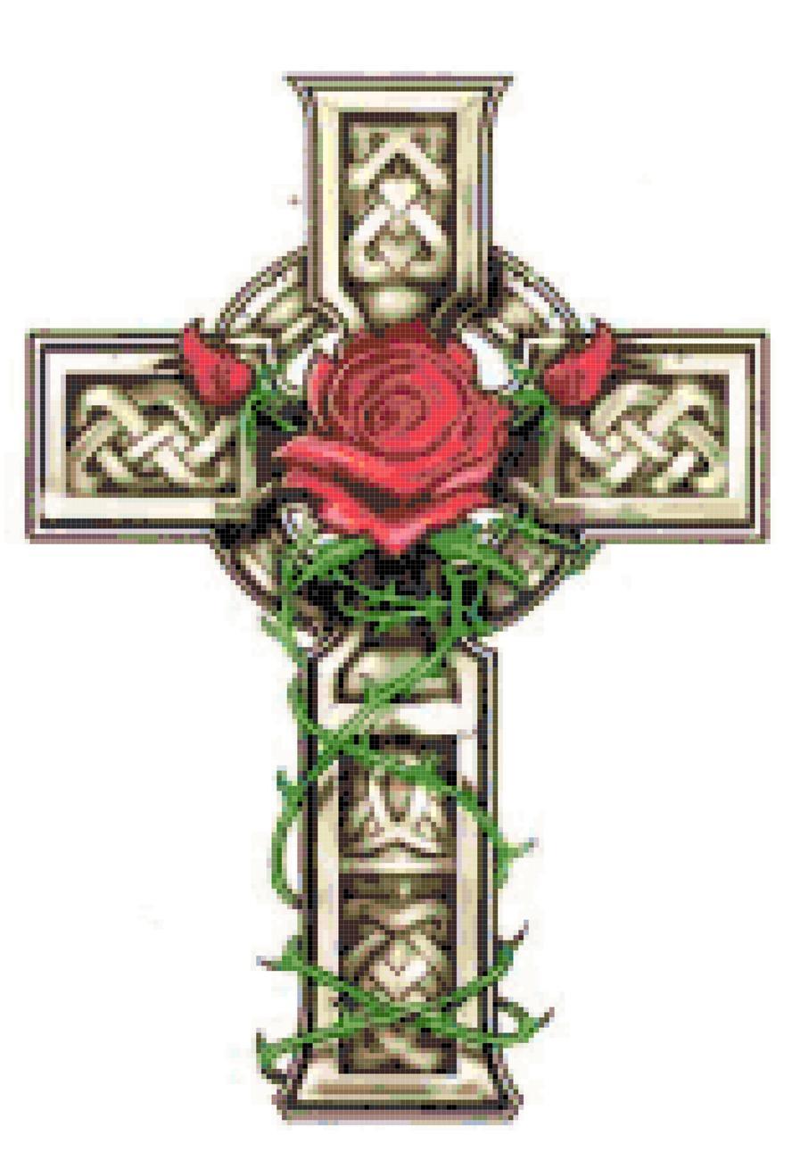 Pagan cross tattoo picture celtic cross tattoo tattoo for Celtic cross with roses tattoo designs