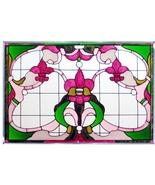 20x14 Stained Art Glass FLEUR DE LIS  Suncatche... - $62.00