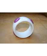 Fashion white bangle costume jewelry with purpl... - $201.32