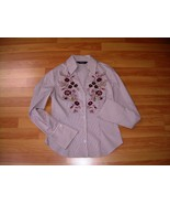 EXPRESS - Floral embroidery STRETCH Shirt NWOT ... - $10.00