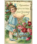 I Remember You On Your Birthday Vintage1910 Pos... - $5.00