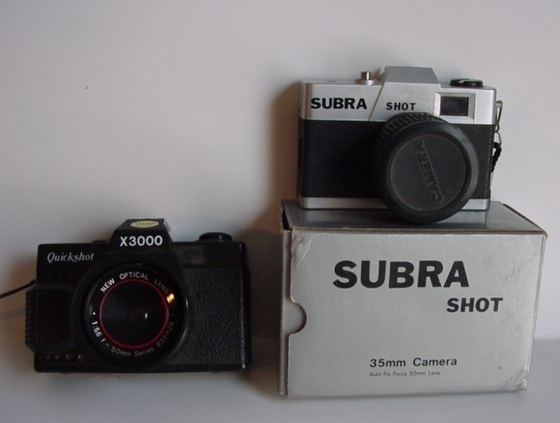 35mm camera Subra Shot  and Qucik Shot X3000 35mm camera
