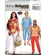 Butterick 4754 Easy Summer Top, Pants Sz 18W-24W Uncut FF