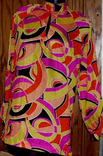 Vtg 60s GO GO Monique MOD cut out abstract Long Top  Mini Dress