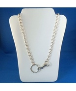 Vintage Link Belt Key Chain Necklace Silver Ton... - $9.99