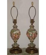 Capodimonte Porcelain Italy Pottery Cherub Table Lamps - $100.00