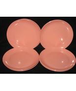 8 Vintage Somerset Boonton Pink Saucer Plates - $9.99