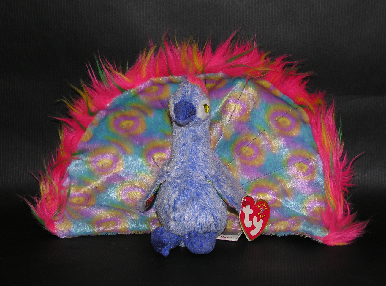 Ty Beanie Baby Babies Flashy the Peacock Original 2000