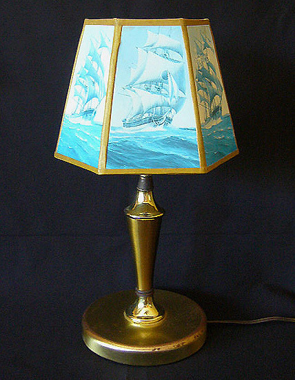 Rustic Nautical Desk Lamp C1950s
